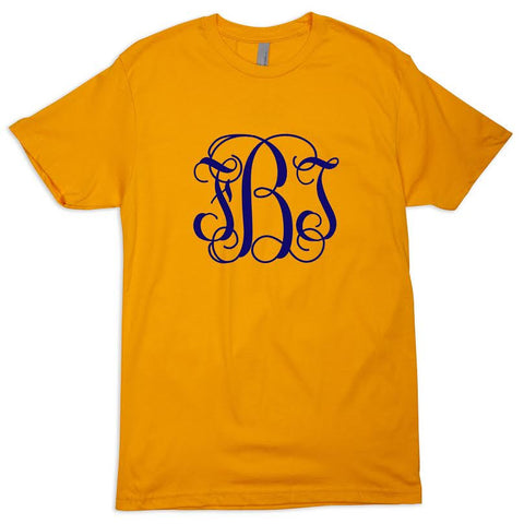 Gold Tee Initials