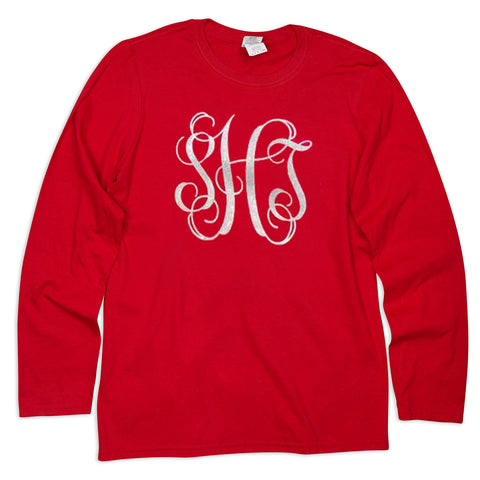 Red Initials Tee