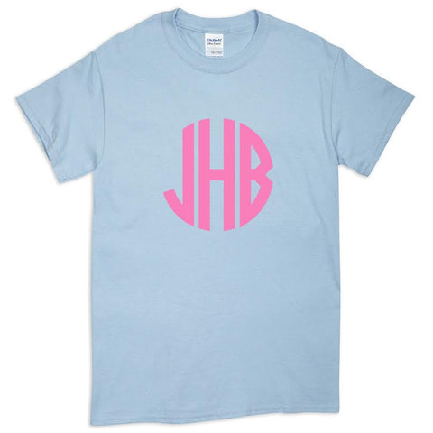 Light Blue Tee Initials