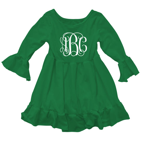Green Lizzy Ruffle Top