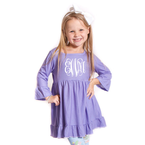 Lilac Lizzy Ruffle Top
