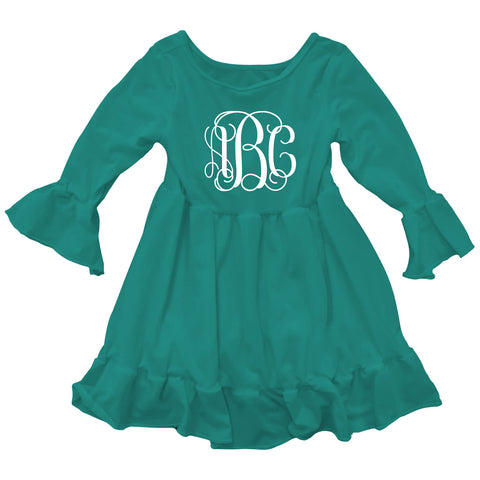 Teal Lizzy Ruffle Top