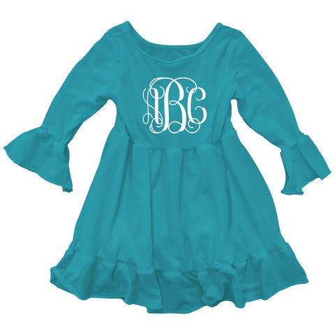 Turquoise Lizzy Ruffle Top