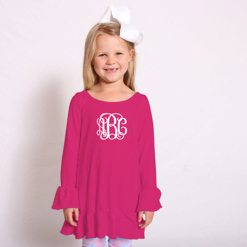 Hot Pink Sophia Ruffle Top