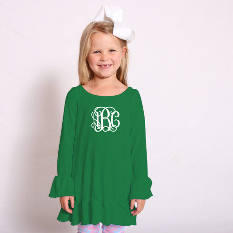 Green Sophia Ruffle Top