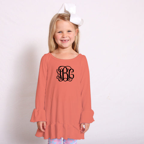 Orange Sophia Ruffle Top