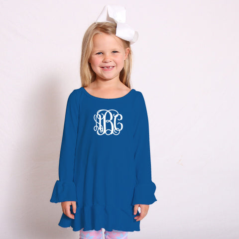 Royal Blue Sophia Ruffle Top