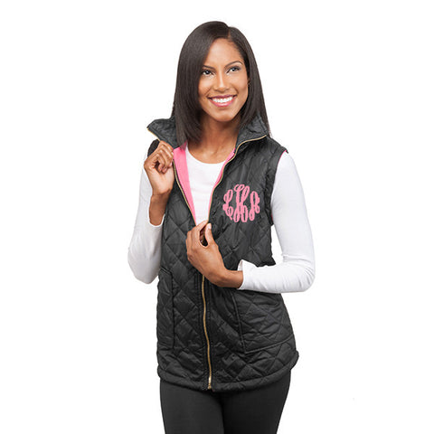 Black Hot Pink Reversible Vest