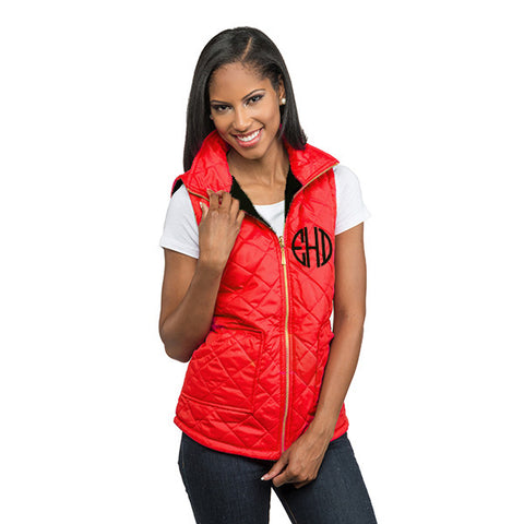 Red Black Reversible Vest