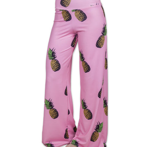 Candy Pink Pineapple Palazzo Pant