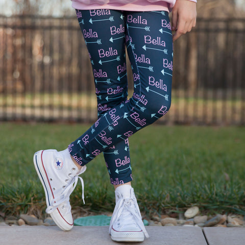 Girls Name Arrow Arden Leggings