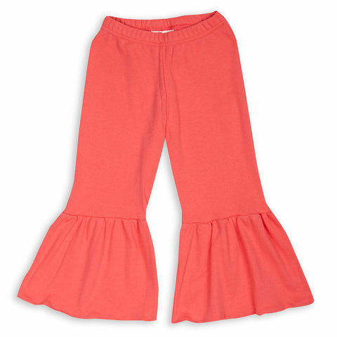 Coral Extreme Ruffle Pant