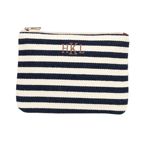 Chandler Stripe Zip Pouch