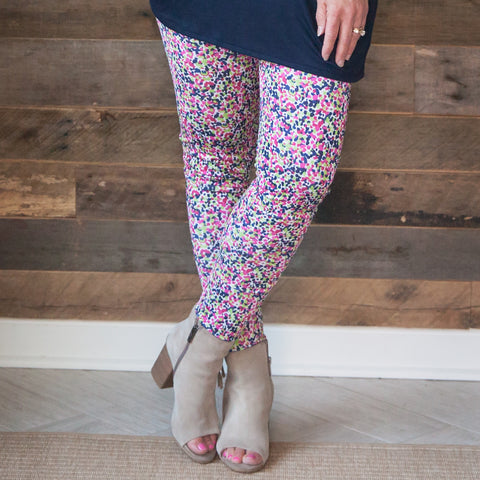 Ladies Dancing Dot Arden Leggings
