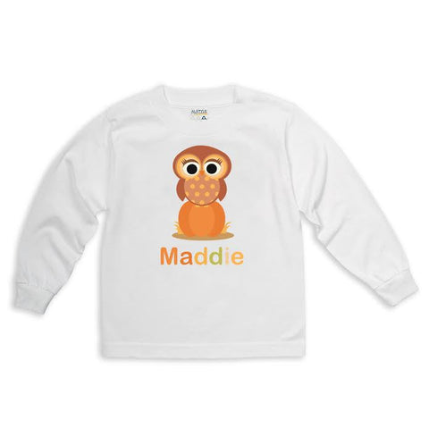 Brown Owl Pumpkin Name Tee