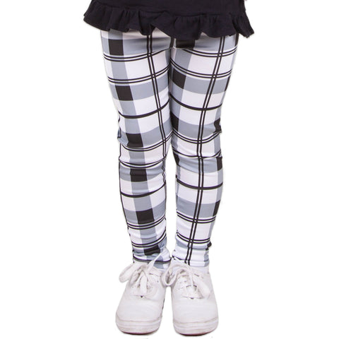 Black White Plaid Arden Leggings