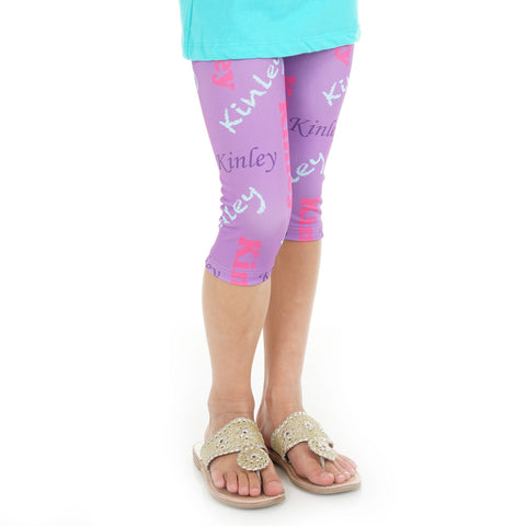 Girls NAME Arden Capri Leggings