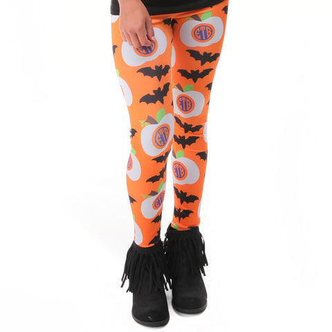 Girls Halloween INITIALS Arden Leggings