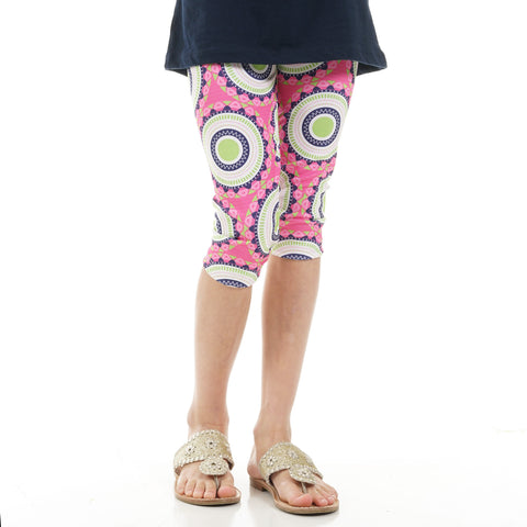 Girls Medallion Arden Capri Leggings