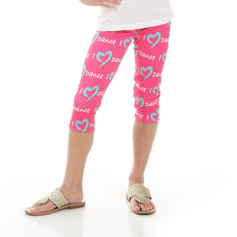Girls Custom I Love Arden Capri Leggings