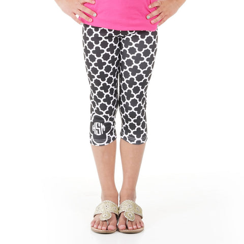 Girls Quatrefoil Arden Capri Leggings