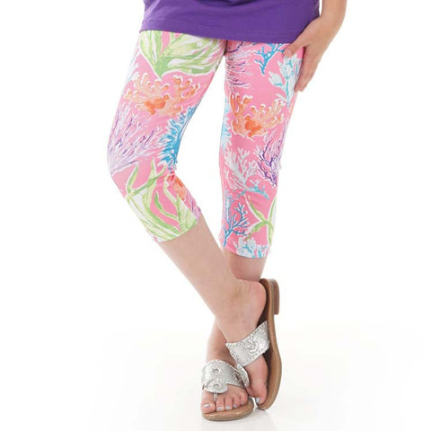 Girls Calypso Coral Arden Capri Leggings