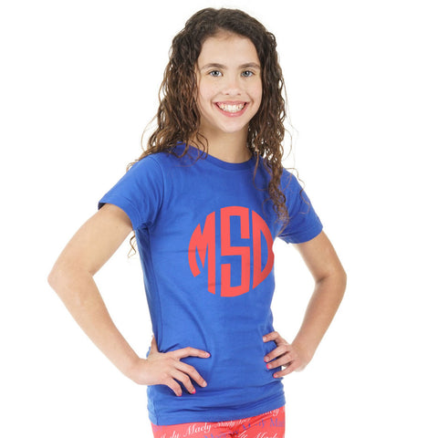 Royal Blue Initials Tee