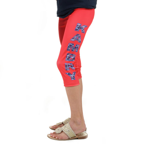 Girls Fireworks Name Arden Capri Leggings