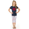 Girls USA Emoji Initials Arden Capri Leggings