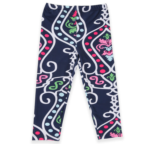 Girls Damask Arden Capri Leggings
