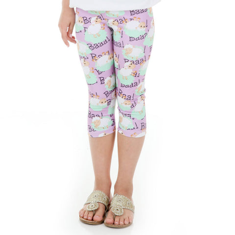 Girls Farm Sheep Arden Capri Leggings