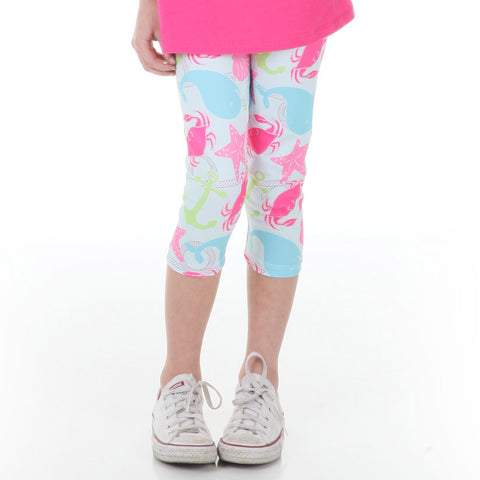 Girls Sea Life Arden Capri Leggings