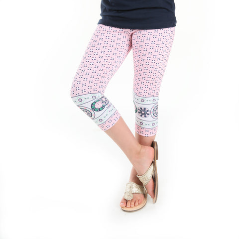 Girls Floral Geo Arden Capri Leggings