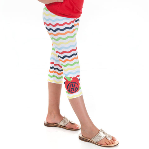 Girls Wave Apple Arden Capri Leggings