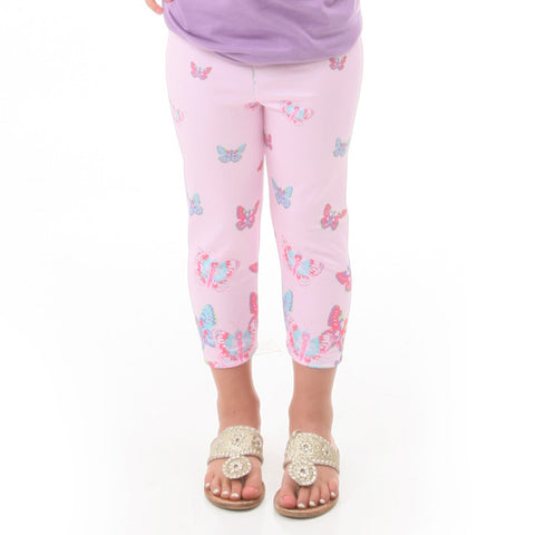 Girls Butterfly Arden Capri Leggings