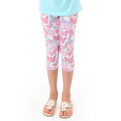 Girls Butterfly Toss Arden Capri Leggings