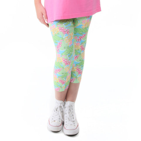 Girls Gator Love Arden Capri Leggings