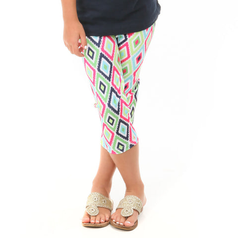 Girls Ikat Arden Capri Leggings