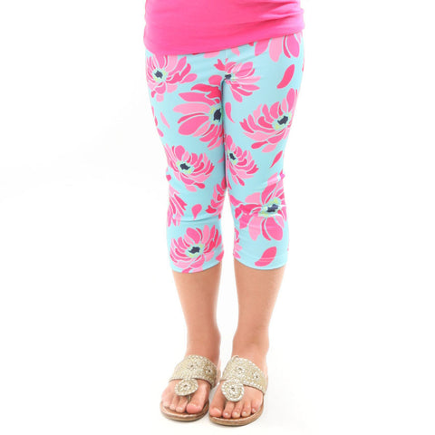 Girls Fancy Floral Arden Capri Leggings