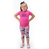 Girls Midnight Rose Arden Capri Leggings