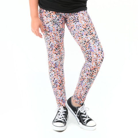 Girls Halloween Dancing Dots Arden Leggings
