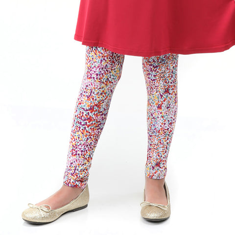 Girls Fall Dancing Dots Arden Leggings