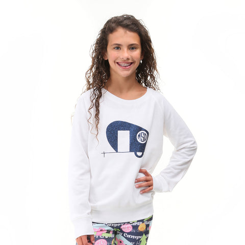 Camping Initials Pullover