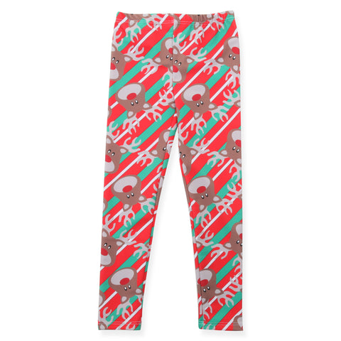 Girls Reindeer Stripe Arden Leggings