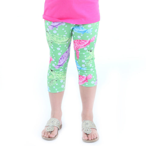 Girls Sea Life Turtle Arden Capri Leggings