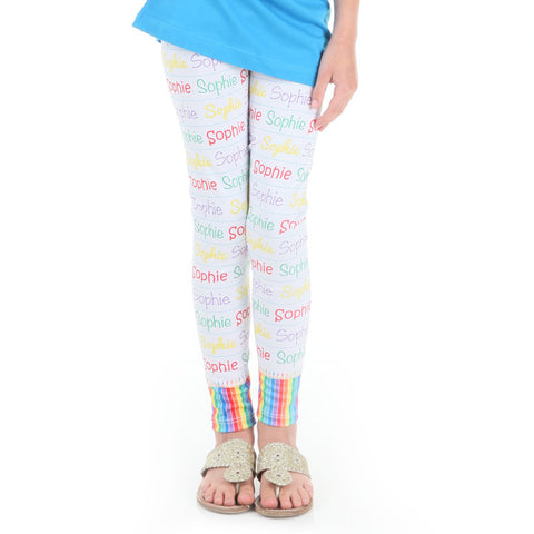 Girls Colored Pencils Name Arden Leggings