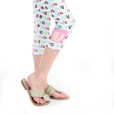 Girls ABC Apple Arden Capri Leggings