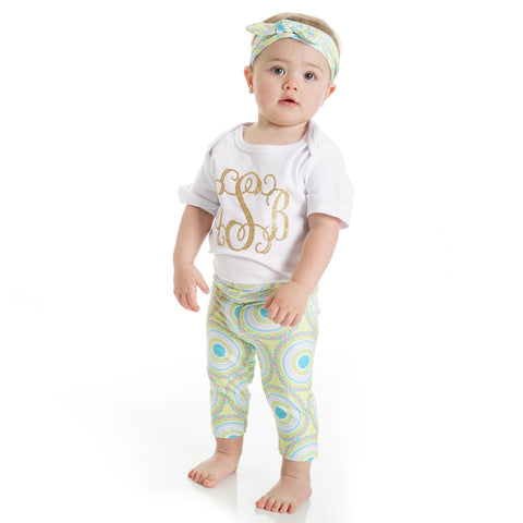 Baby Girls Medallion Ireland Leggings