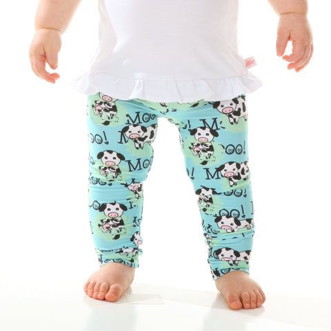 Baby Girls Farm Cow Ireland Leggings