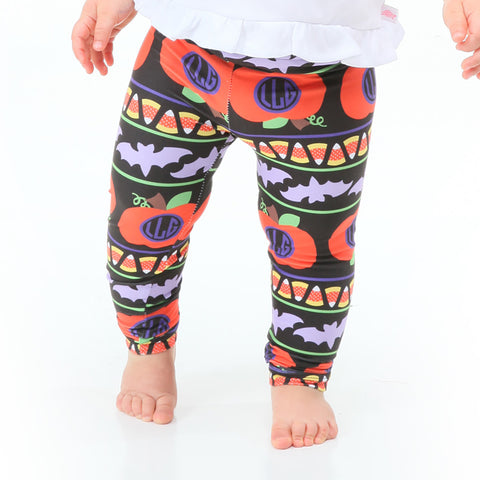 Baby Girls Halloween Initials Ireland Leggings